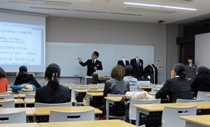 関西外国語大学AOKI就活メイクセミナー3
