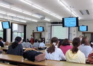 岐阜大学 生協様の主催「就職ガイダンス」メイクセミナー1